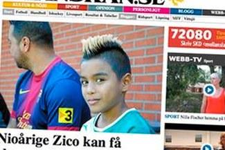 Barcelona fichó a la 'miniestrella' de fútbol Zico de apenas 9 años