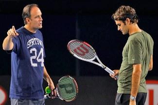 Roger Federer mandó a 'rodar' a su entrenador de tenis [VIDEO]
