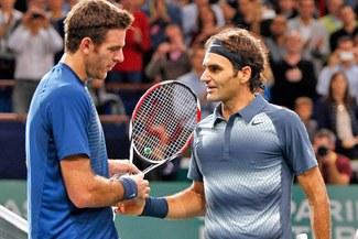 Roger Federer eliminó a Juan Martín del Potro del Masters 1.000 de París
