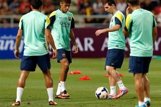 El Barcelona volvió a los entrenamientos sin Gerard Piqué ni Adriano