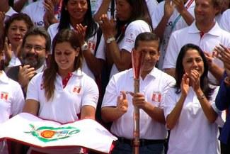 Juegos Bolivarianos 2013: Ollanta Humala recibió la antorcha bolivariana [VIDEO]