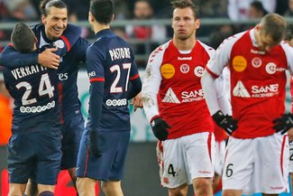 Con Zlatan Ibrahimovic: PSG goleó 0 – 3 a Reims y es líder francés [VIDEO]