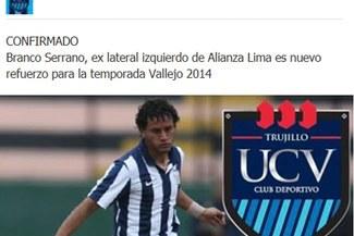 César Vallejo confirmó a Branco Serrano como nuevo refuerzo