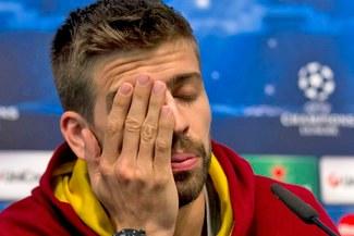 Gerard Piqué no jugará dos semanas por una lesión en el gemelo