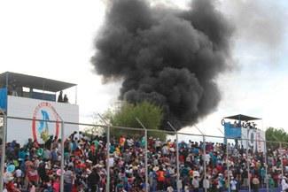 Inti Gas vs. Universitario: incendio ocurrió en las afueras del estadio Ciudad de Cumaná [FOTOS]