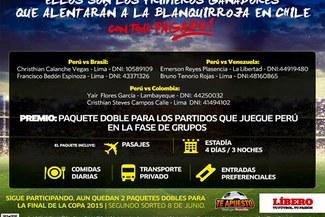 Copa América 2015: conoce a los ganadores que alentarán a Perú con todo pagado