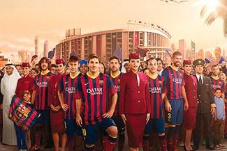 Barcelona: Qatar Airways realiza espectacular comercial con jugadores catalanes como aeromozos [VIDEO]