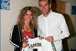 Zidane y Shakira juntos en una foto que deja mal parado a Piqué