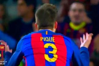 A lo 'Puma' Carranza: Gerard Piqué levantó a la hinchada del Barcelona en pleno duelo ante el Atlético   VIDEO