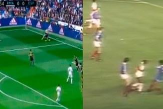 Real Madrid vs. Espanyol: Cristiano Ronaldo emula a Julio Cesar Uribe con genial elástica