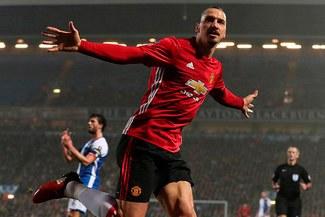 Zlatan Ibrahimovic metió a Manchester United a cuartos de final de la Copa FA
