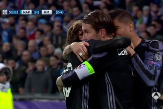 Real Madrid vs. Napoli: Sergio Ramos y su increíble doblete por Champions League |VIDEO