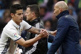 """Zidane: """"James Rodríguez hizo un gran trabajo como todos en el Real Madrid"""""""