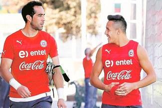 Chile vs. Alemania: Alexis Sánchez y Claudio Bravo entrenan con normalidad en la 'Roja'
