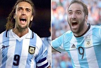Selección Argentina  Gonzalo Higuaín fue duramente criticado por Gabriel  Batistuta 783153be003ec