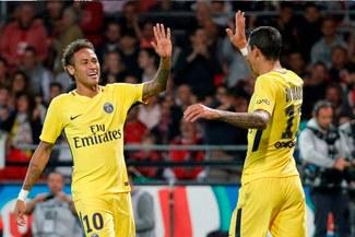 Neymar debutó por todo lo alto con el PSG que goleó y es uno de los líderes de la Ligue 1