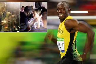 Usain Bolt fue captado bebiendo ron a lado de muchas mujeres un día antes de su última carrera [VIDEO]