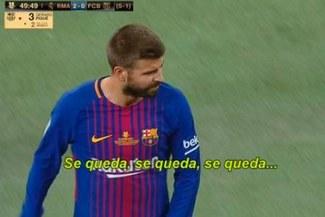 """Gerard Piqué fue vacilado por hinchas del Real Madrid con el """"Se queda"""" [VIDEO]"""