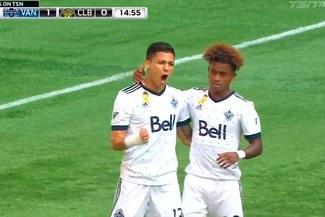Yordy Reyna y su brillante pase de cabeza en el primer gol del Vancouver Whitecaps [VIDEO]