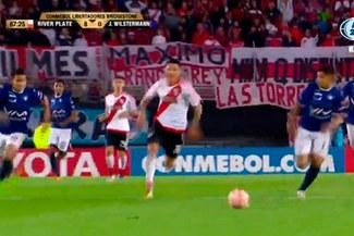 River Plate vs. Jorge Wilstermann: Enzo Pérez dejó en ridículo a sus rivales para marcar este golazo [VIDEO]