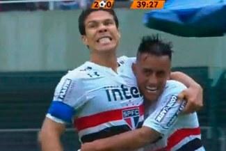 Flamengo vs. Sao Paulo  Christian Cueva y el exquisito pase gol para el  segundo 25f80e1b676ab