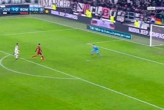 Juventus vs. AS Roma: el increíble gol que falló Patrik Schick [VIDEO]