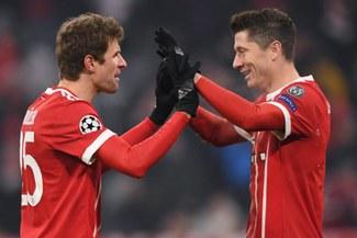 Bayern Múnich destrozó 5-0 a Besiktas en Alemania con dobletes de Lewandowski y Müller [VIDEO]