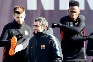 Barcelona: la explicación de Ernesto Valverde sobre las no convocatorias de Yerry Mina