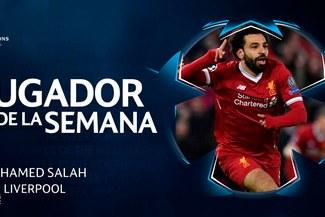 Champions League: Mohamed Salah elegido el mejor jugador de la semana