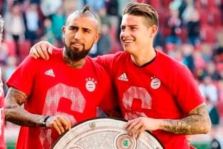 Bayern Múnich: Arturo Vidal le dedicó un emotivo mensaje en Twitter a James Rodríguez