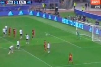 Radja Nainggolan redimió su error y anotó un golazo para ilusionar a la Roma con el 3-2 sobre Liverpool [VIDEO]