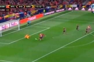 ¡Mordió el 'Lagarto'! Diego Costa puso el 1-0 del Atlético de Madrid sobre Arsenal [VIDEO]