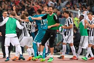 Eufórica celebración de Juventus tras conseguir el título