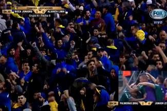 Euforia total: la reacción de los hinchas de Boca tras los goles de Palmeiras ante Junior [VIDEO]