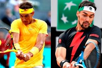 Nadal derrotó a Fognini en cuartos de final del Masters 1000 de Roma