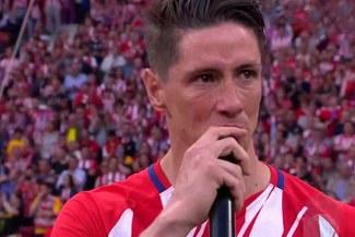 ¡Hasta las lágrimas! Las últimas palabras de Fernando Torres en el Atlético de Madrid  [VIDEO]