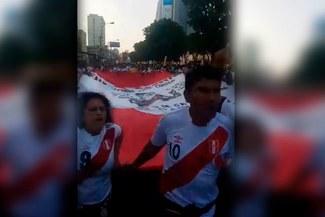 Marcha de apoyo a Paolo Guerrero en Lima