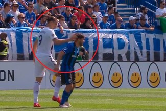 Zlatan Ibrahimovic fue expulsado en la MLS tras golpear a un jugador rival [VIDEO]