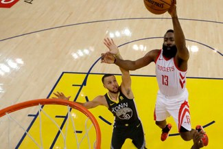 Golden Warriors cayó 98-94 ante Houston Rockets en el juego 5 de los Playoffs de la NBA