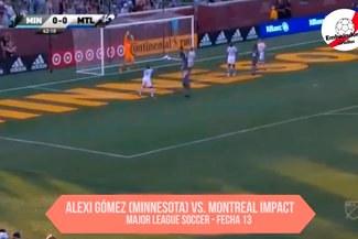 Alexi Gómez estuvo cerca de anotar un golazo por la MLS con camiseta de Minnesota United [VIDEO]