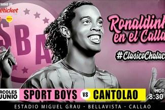 ¡Ronaldinho en el Callao! Evento fue confirmado para el 13 de junio en el Miguel Grau
