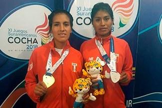 ¡Orgullo peruano! Saida Meneses y Luz Mery Rojas ganan medalla de oro y plata en Juegos Suramericanos Cochabamba