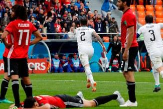 ¡Triunfazo! Uruguay ganó 1-0 a Egipto por el grupo A del Mundial [RESUMEN Y GOL]
