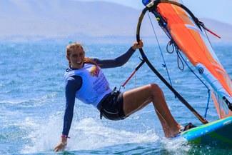 Peruana campeona sudamericana de windsurf brilló en Francia