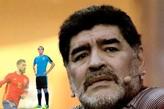 """Maradona: """"Sergio Ramos no es un crack, Diego Godín sí lo es"""" [VIDEO]"""