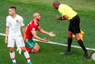 Rusia 2018: Amrabat criticó al árbitro tras la derrota de Marruecos ante Portugal