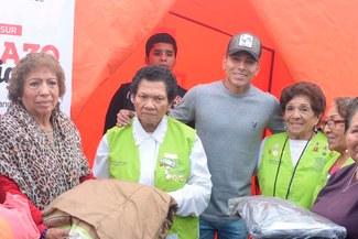 Raúl Ruidíaz y su noble gesto con los damnificados del friaje en el sur peruano