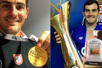 d22153b755 Iker Casillas  le regalan pisco peruano por conseguir la Supercopa de  Portugal  FOTO