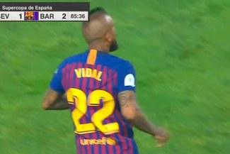 Barcelona vs Sevilla: El chileno Arturo Vidal debutó con los 'Azulgranas' en la Supercopa de España [VIDEO]