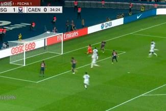 PSG vs Caen: Adrien Rabiot anotó el 2-0 parisino tras asistencia de Ángel Di María [VIDEO]